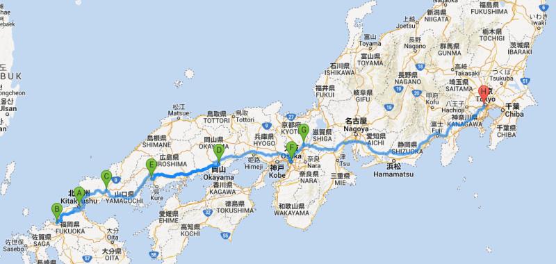 Japanreise #2 – Reiseroute