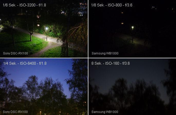 Sony Cyber-shot DSC-RX100 vs Samsung WB1000