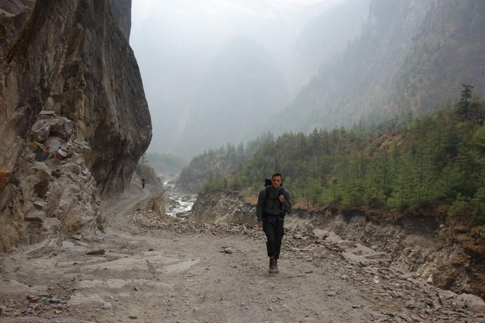 Unterwegs nach Lower Pisang