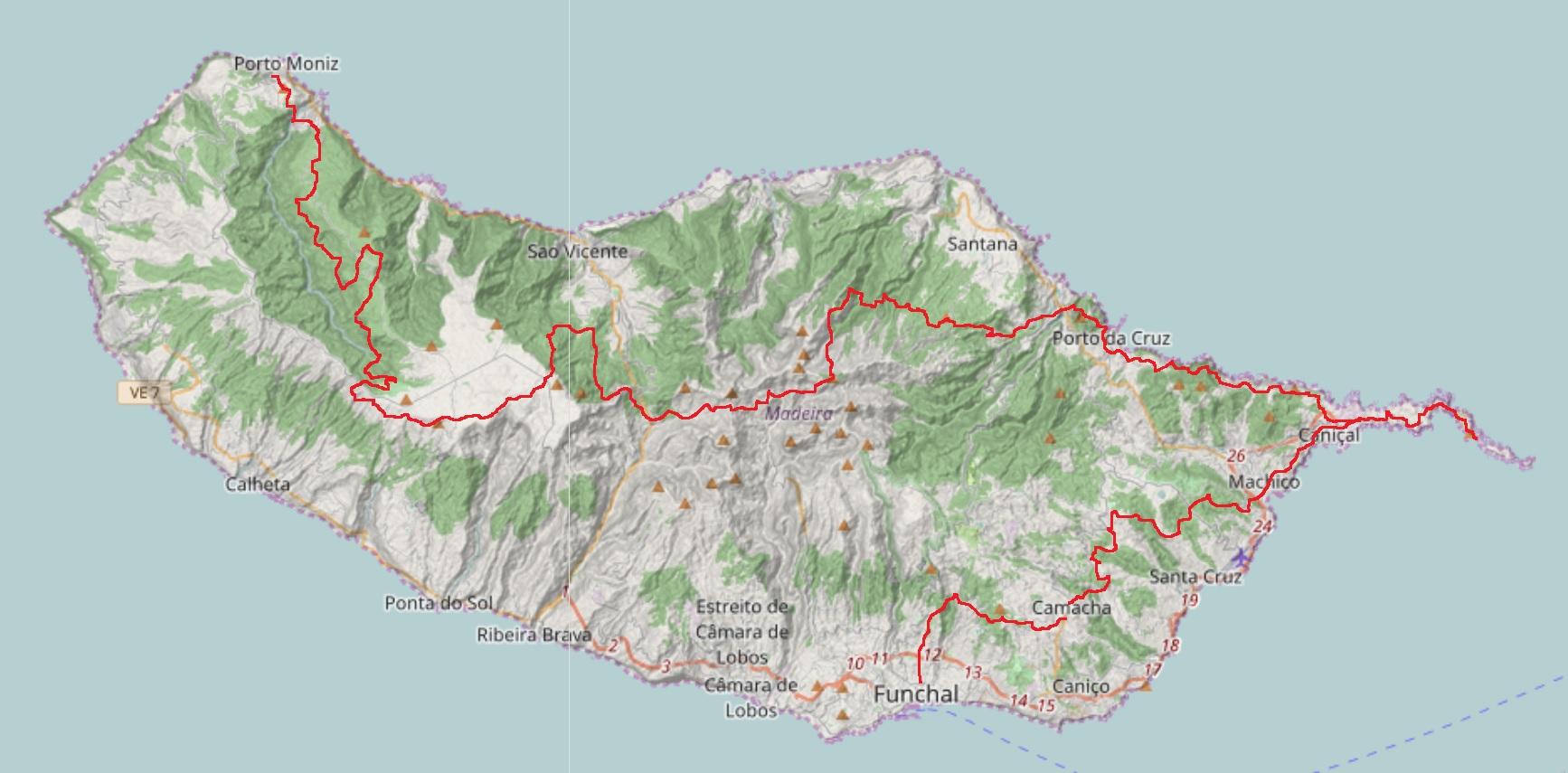 Madeira Trekking-Route - Reiseplanung