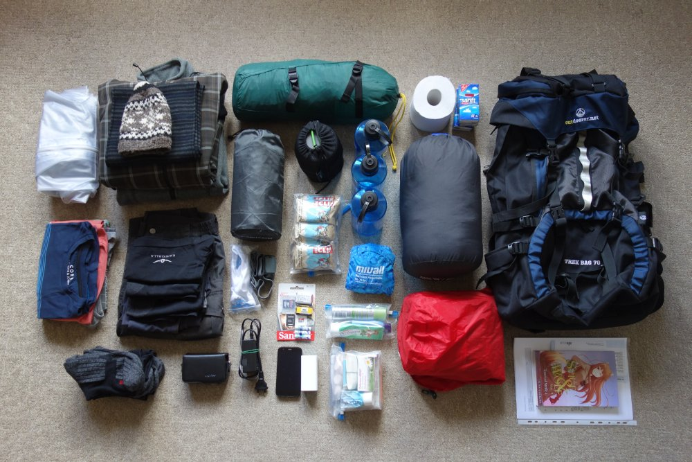 "Madeira Packliste ""West to East Trek"""