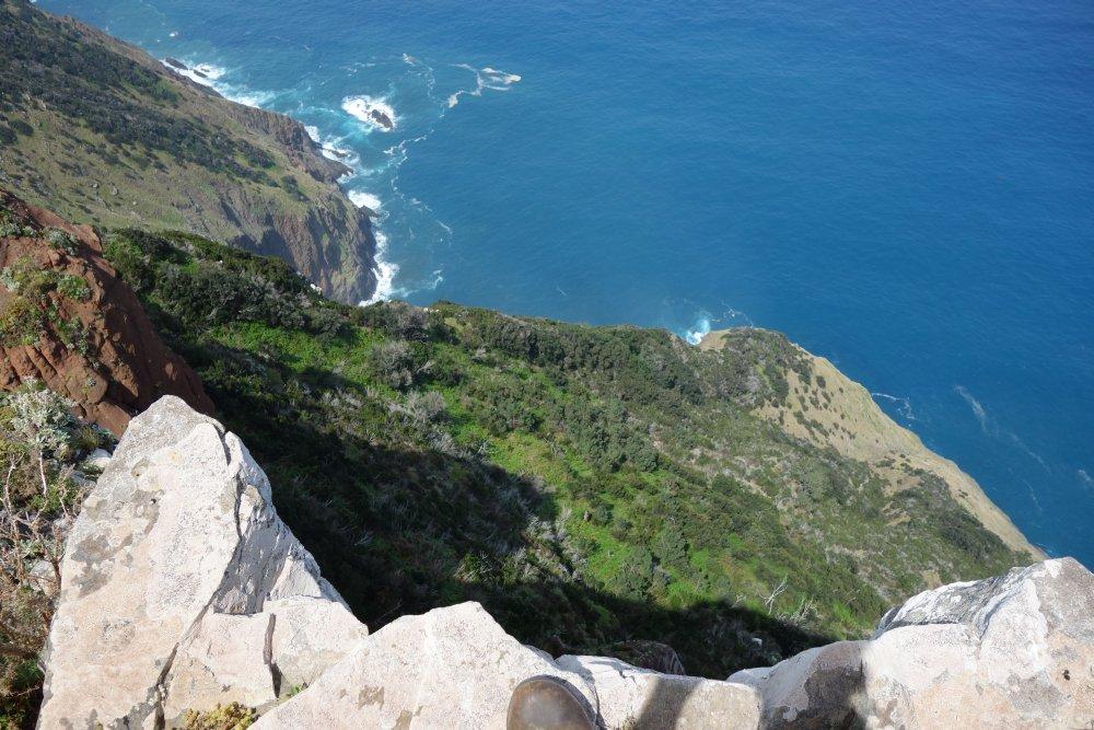 Blick vom Klippenpfad auf das Meer