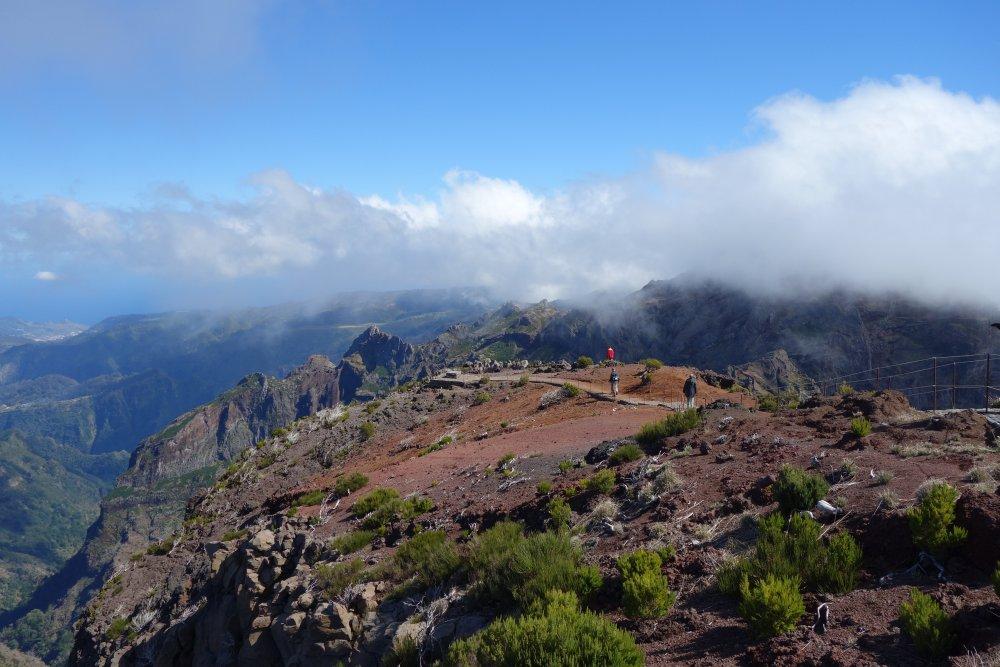 Auf dem Gipfel Pico Ruivo