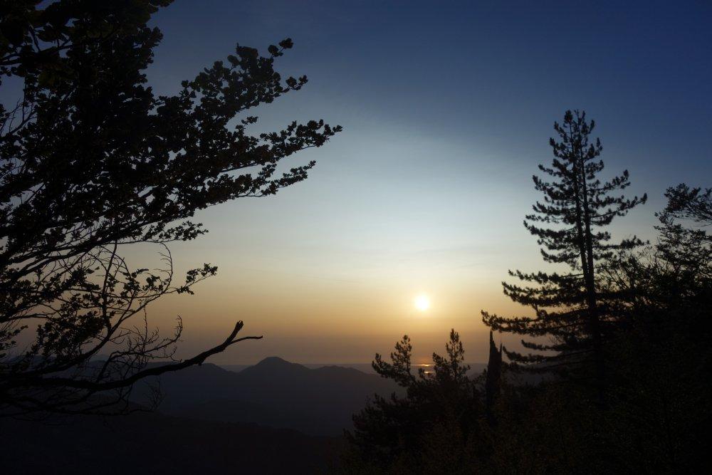 Sonnenaufgang am Refuge de Capannelle