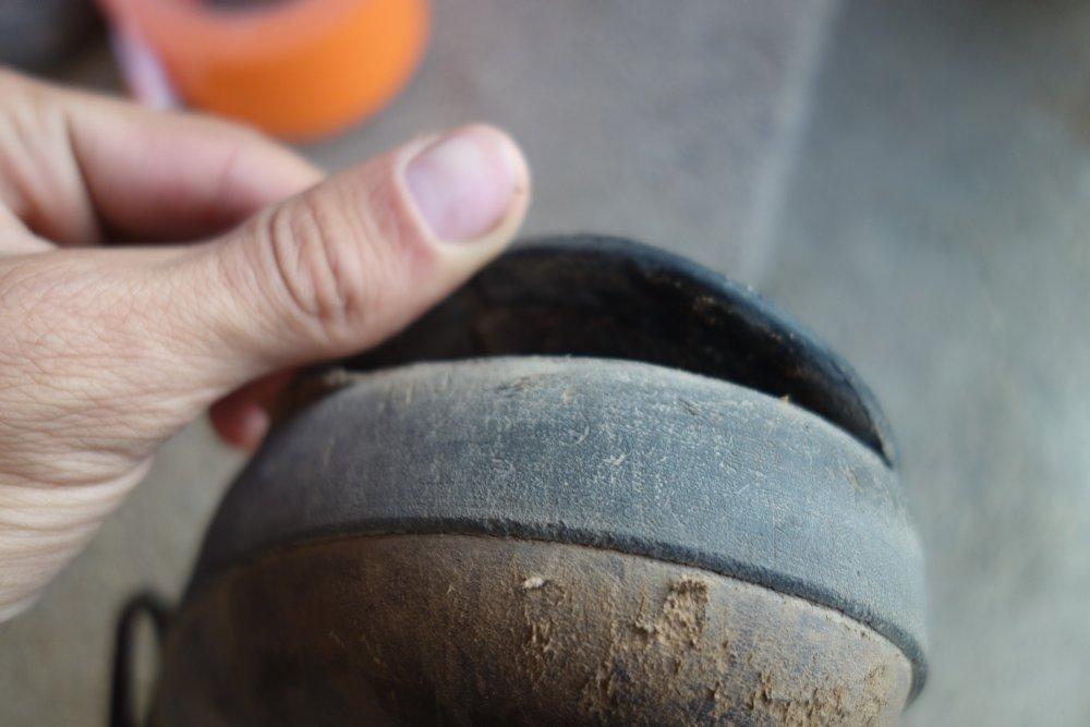 Meindl-Schuh mit defekter Sohle