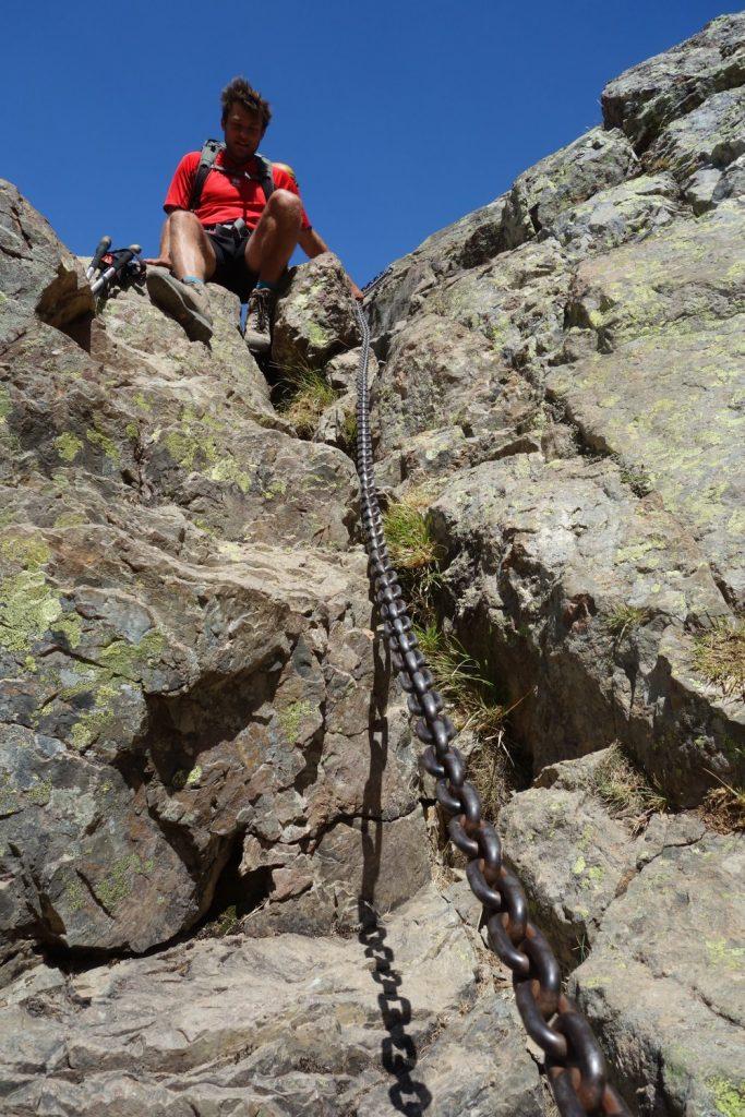 Steiler Abstieg zur Refuge Asco Stagnu