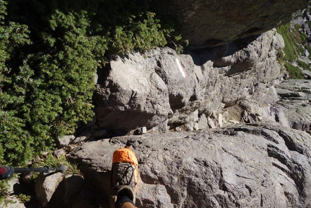 Steiler Aufstieg zur Bocca di Stagnu