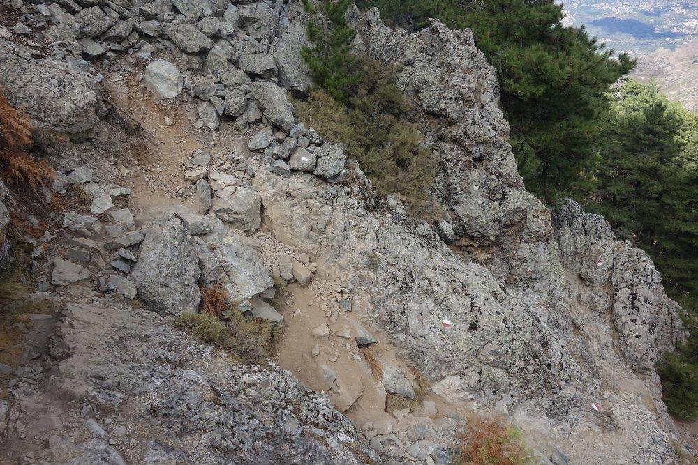 Anspruchsvolle Klettereinlagen