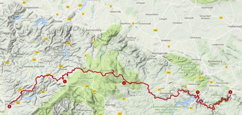 Harzer-Hexen-Stieg Trekking-Vorbereitungen