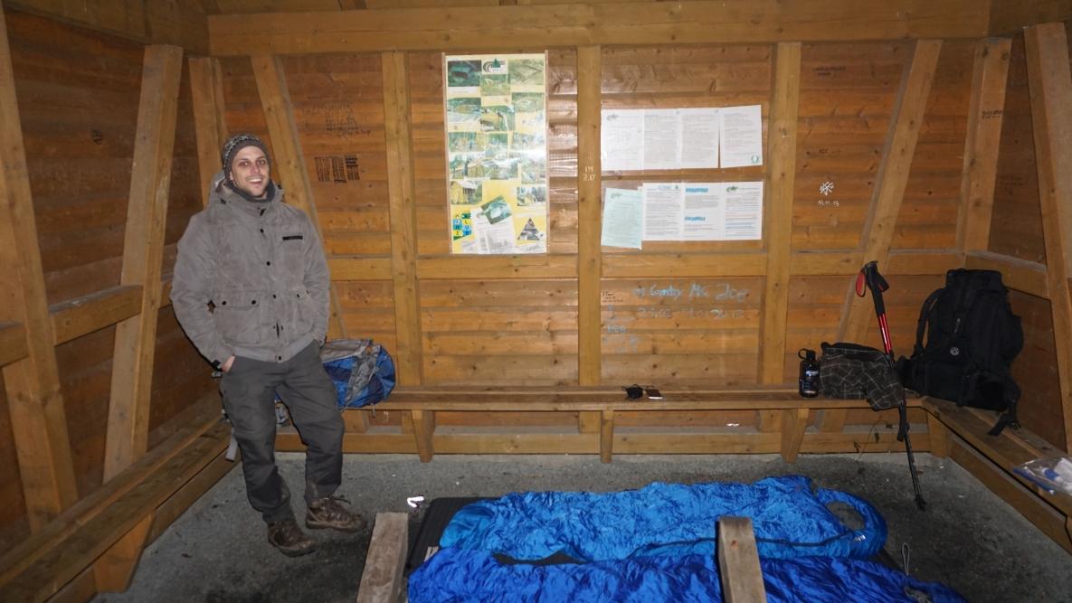Hütte an der Eisenquelle - unser Nachtquartier