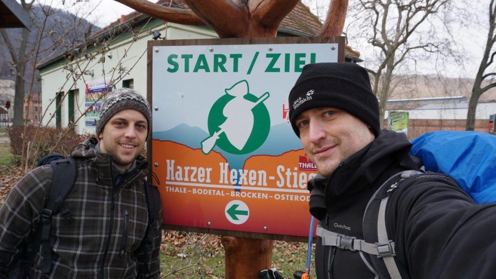 Start/Ziel Schild Harzer-Hexen-Stieg