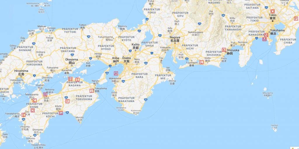 Japanreise #3 Karte