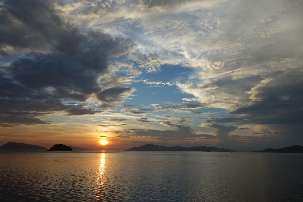 Sonnenuntergang in Utazu