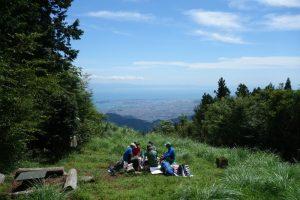 Ausblick von der Bergspitze Monju