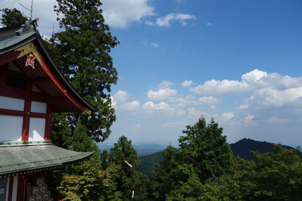 Ausblick vom Berg Mitake