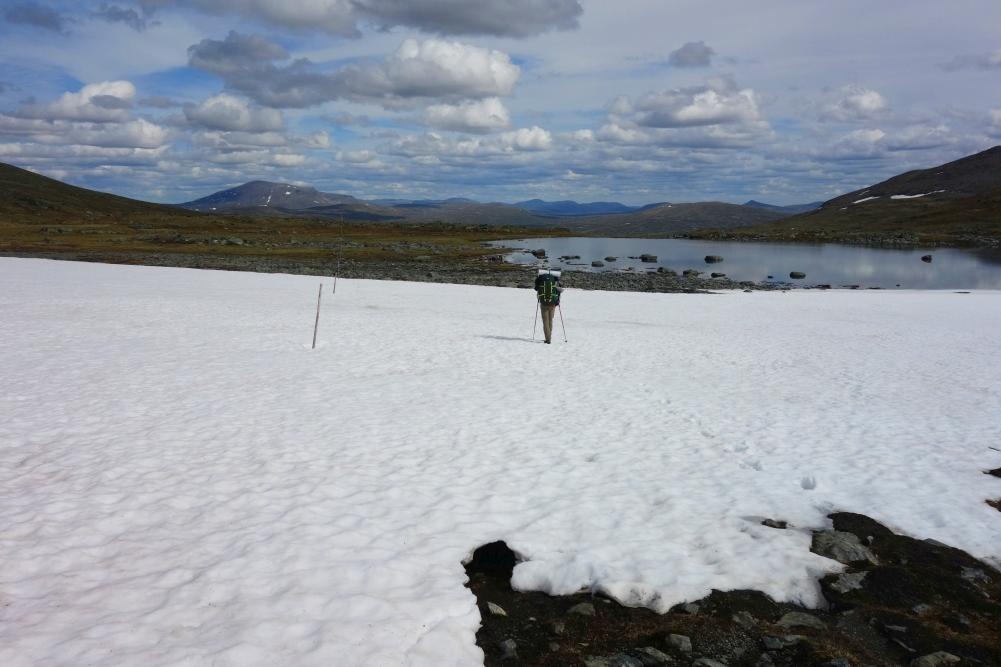 Überquerung von Schneefeldern