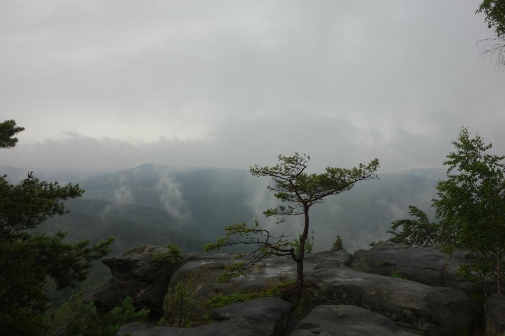Tafelberg Quirl bei schlechtem Wetter