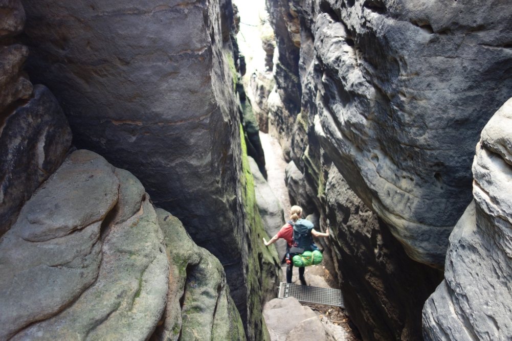 Abstieg vom Tafelberg Gohrisch