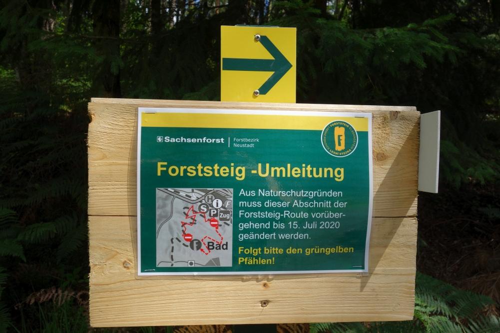 Forststeig-Umleitung